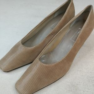 NORDSTROM womens brown leather pump shoes Size 7.5